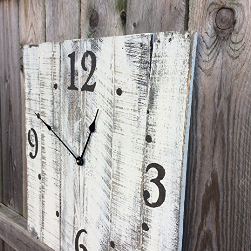 Seeka Decor Oversized Wall Clock With Distressed Finish - 15