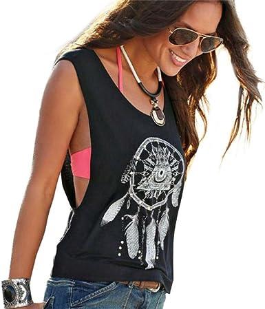 Camisetas para Mujer, K-Youth® Atrapasueños Impresa Mujer Chaleco de Tirantes Camisa Mujer Blusa Chaleco Sin Mangas Tops Ropa de Mujer Verano 2018 Oferta: Amazon.es: Ropa y accesorios