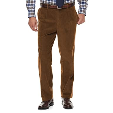 fashion huge selection of comfortable feel Croft & Barrow Men's Classic-Fit Pleated Corduroy Pants ...
