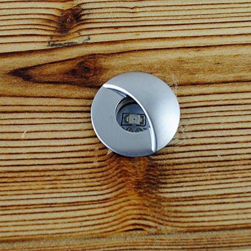 FVTLED 20pcs Low Voltage LED Step Lights Kit 1-1/25'' Half Moon Aluminum Outdoor Wood Deck Lighting Yard Garden Patio Stair LED Light Decoration Lamps, Warm White by FVTLED (Image #8)