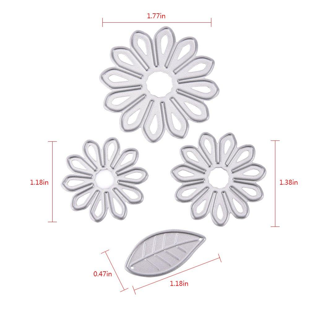 8pcs Flower Cutting Dies Stencil Scrapbook Embossing Album Paper Card DIY Craft