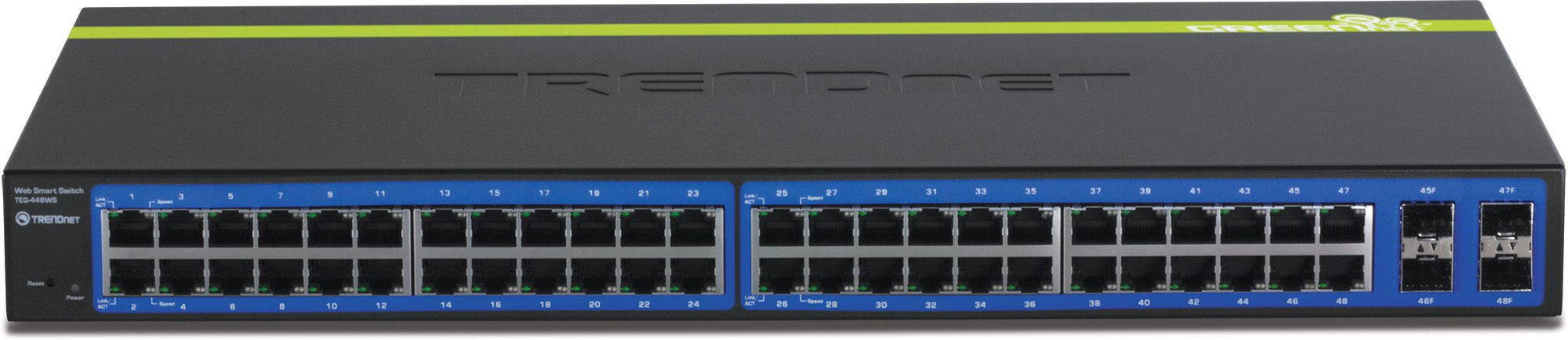 TRENDnet 48-Port 10/100/1000 Mbps Gigabit Web Smart Switch with 4 shared SFP Slots, Private & Voice VLAN Support, IPv6, Fanless, Rack Mountable, TEG-448WS by TRENDnet (Image #3)