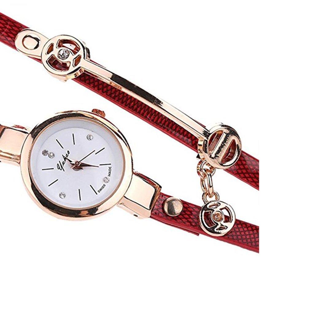 Clearance!Toosvan Women Watch on Sale Leather Metal Strap Analog Quartz Wrist Watch Gift by Waroomvan Watch (Image #3)