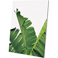 Baoblaze Tropical Green Plant Palm Tree Leaves Wall Art Painting on Canvas Prints Picture for Home Living Room TV Background Decor