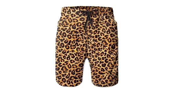 Amazon.com: Leopardo Print. Jpg Bañador para hombre, secado ...