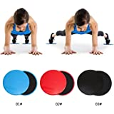 Niome 2pcs Fitness Gliders Workout Bums Leg Slide Discs Core Sliders Exercise Training Black