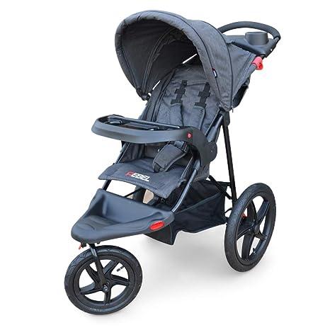 PAPILIOSHOP REBEL Silla de paseo cochecito para niño y bebé 3 ruedas (Gris)