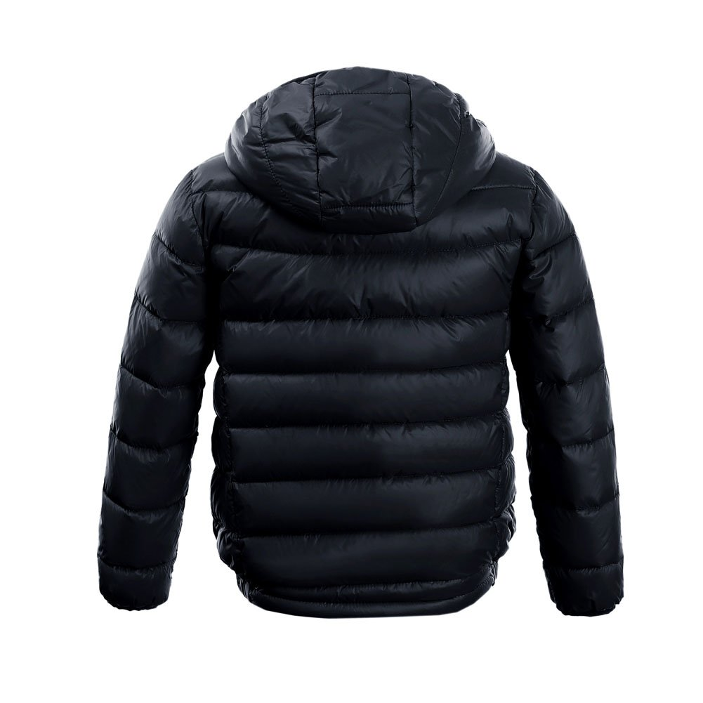 M2C Boys & Girls Ultralight Hooded Duck Down Puffer Packable Jacket 5T Black by M2C (Image #2)