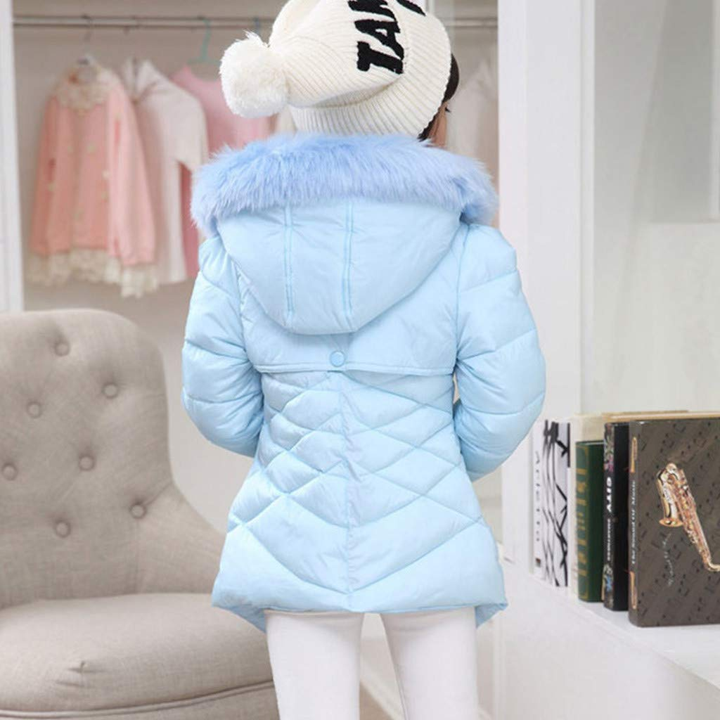 OCEAN-STORE Kids Baby Boys Girls 2-8 Years Winter Coat Cloak Jacket Thick Warm Hoodie Outerwear Clothes