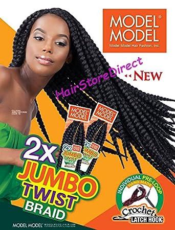 Amazoncom Model Model Jumbo Twist Braid 24 Crochet Latch Hook