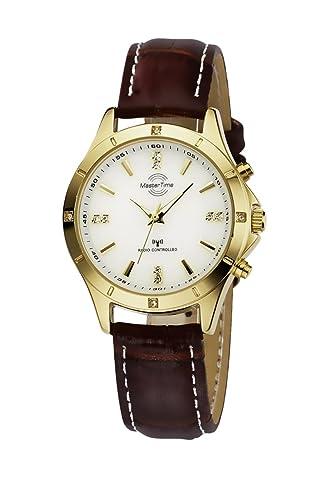 Master Time Funk Fashion Series Damenuhr MTLA-10339-11L, Leder Armbanduhr Braun