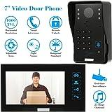 "KKmoon 7"" Video Portero Interfono Intercomunicador (1000TVL Cámara de Vigilancia, Monitor TFT LCD, Botón Táctil, 5 Tarjetas ID, Visión Nocturna)"