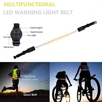 Bicycle Light Wireless Remote Control Reflective Safety Vest With Led Signals Cycling Running Safe Waterproof Rechargeable Bike Accessories Wide Varieties