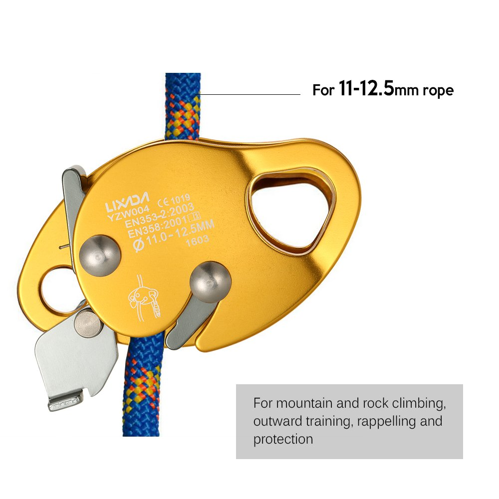 Single Pulley /& Twin Sheave Pulley Rescue Pulley for Training Protection Rescue Climbing Rigging Rescue Lixada Climbing Pulley Rigging Rope Grab Rock Fall Protection Safety Clip