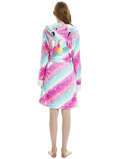 dressfan Vestidos de Animales con Capucha Batas Vestidos Pijamas de Franela Túnicas Invierno Cálido Mujeres/Damas: Amazon.es: Ropa y accesorios