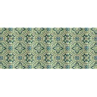 Faux Flooring Casa Green Runner, 25 by 60-Inch, Multicolor