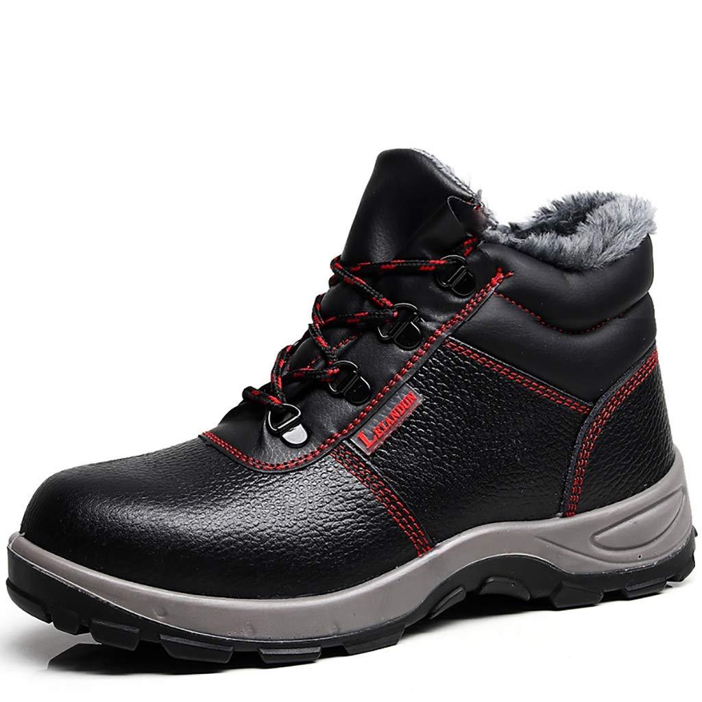 XBXZ Sicherheitsschuhe Arbeitsstiefel Männer Stahl Toe Suede Breathable Beiläufige Schuhe Arbeitsversicherung Sicherheitsschuhe Arbeitsschuhe Arbeitsschuhe (Farbe : A, größe : 43)