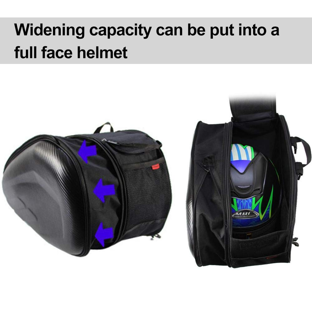 Carbon Fiber Case Waterproof Motorcycle Box Saddle Bag Side Locomotive Package