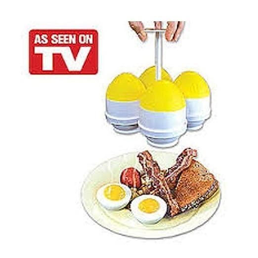 EZ huevos rápido y fácil COCEDOR de huevos para microondas ...