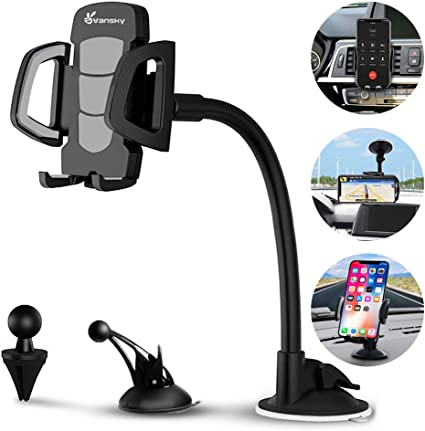 New Extensible Suction Car Mount Holder Bracket Clip For iPhone Galaxy4//5 Note3