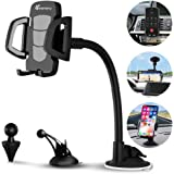 Car Phone Mount, Vansky 3-in-1 Universal Cell Phone Holder Car Air Vent Holder Dashboard Mount Windshield Mount for…