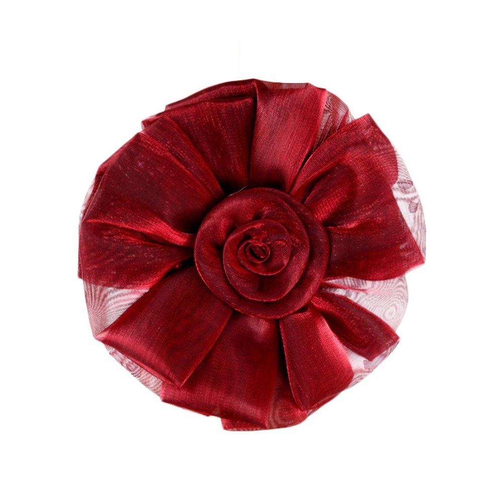 Brightcactus 1/paio di fiori in pizzo elegante tenda attaches orecchini retenues 2/embrasses a Tende per decorazione nella sala o camera Vino rosso