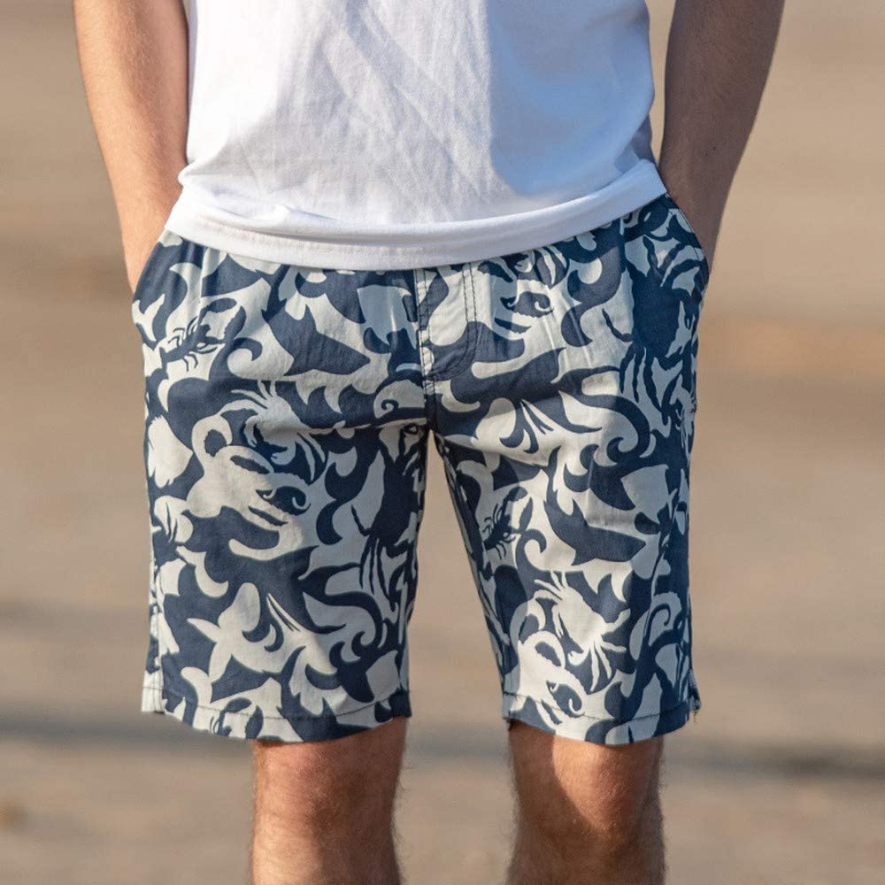 Quick-Drying Loose Survivcorner Fun Mens Beach Pants Casual Five-Cent Sport Shorts