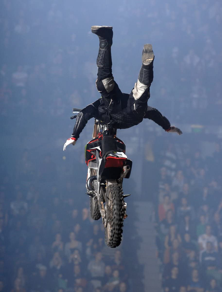 Motocross Excite Bike Supercross Superman 4 x 3-Feet JP London PMUR0041 Peel and Stick Removable Wall Decal Sticker Mural