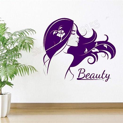 xingbuxin Hair Beauty Salon Logo Vinyl Wall Beautiful Girl Lady ...