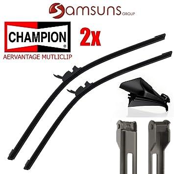 2 x Champion aerovan Días Easy Clip plano Limpiaparabrisas Limpiaparabrisas 550 mm 22 ...