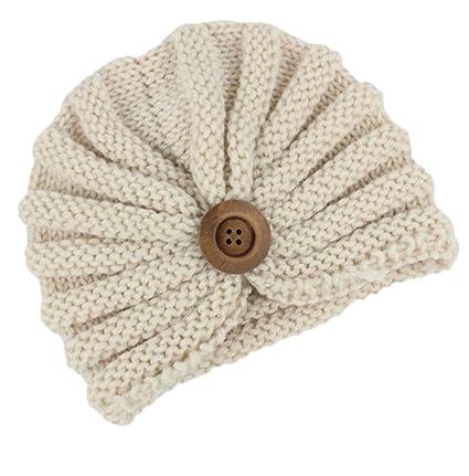 Leisial Cappello di Lavoro a Maglia per Bambini di Fibbia per Bambini  Esotici Beige 305853d19eca