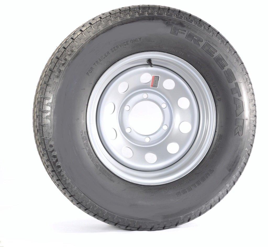 Trailer Tire + Rim ST225/75D15 H78-15 225/75-15 D 6 Lug Wheel Gray Grey Modular