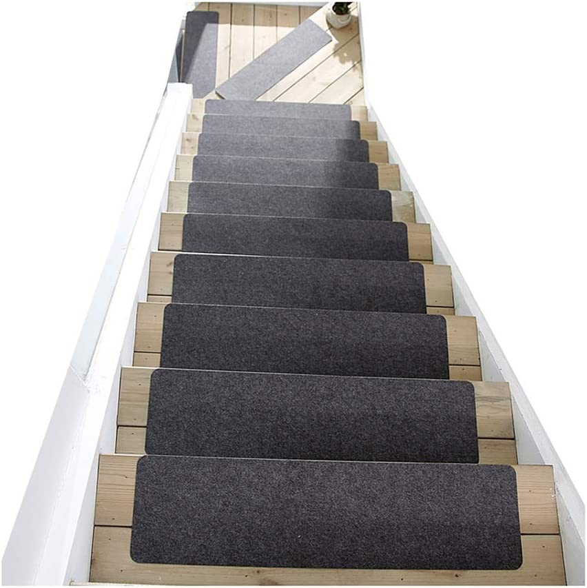 GYL Alfombras de escalera Alfombrilla for Escalera, Alfombrilla for Escalera de Madera Maciza Manta Autoadhesiva No Adhesiva Adecuado for Pegatinas de Peldaños for El Hogar Alfombra for Escalera Alfom: Amazon.es: Hogar