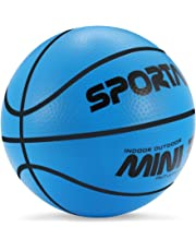 Stylife 5inch Mini Basketball for Kids, Environmental Protection Material,Soft and Bouncy,Colors Varied