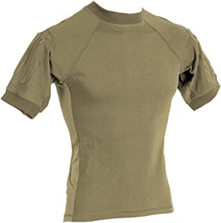 Voodoo Tactical 01-9583 Short Sleeve Combat Shirt, 100% Cotton, Sand