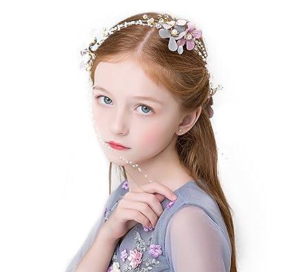 子供ドレス ヘアアクセサリー プリンセスクラウン カチューシャ フォーマル フラワーティアラ 髪飾り 女の子 キッズ 子どもドレス