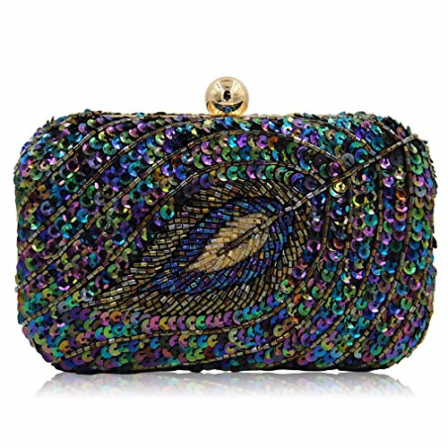 Multi With Floral Sequined Women Ladies Party Clutch Chain Beaded Evening Wedding New Design Bag OzxPq