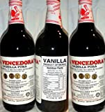 3 X La Vencedora Mexican Vanilla Extract 31.78oz - 1L Each 3 Glass Bottles Product From Mexico