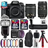 Holiday Saving Bundle for D7500 DSLR Camera + Tamron 70-300mm Di LD Lens + AF-P 18-55mm + Flash with LCD Display + Battery Grip + 6PC Graduated Color Filter + 2yr Warranty - International Version