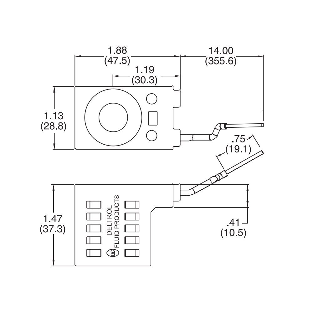 Deltrol 10226 14 12vdc Solenoid Coil 16w Hydraulic Power Fenner Fluid Wiring Diagrams Unit Lift Dump Home Improvement