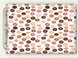 Minicoso Flannel Throw Blanket Donuts And Little Hearts Pattern Colorful Yummy Delicious Dessert Cafeteria Restaurant Art Pink Brown Autumn Winter Warm Double Sides Print Blanketry, 79'' W x 59'' H