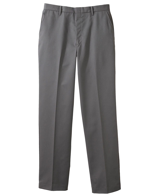 Ed Garments MenS Business Casual Flat Front Brass Zipper Pant-Dark Grey-28-Ur