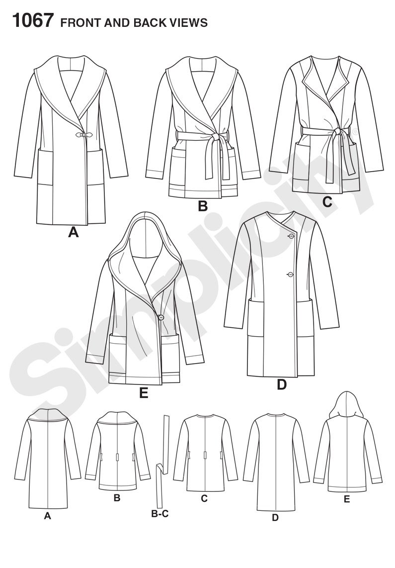 Amazon.com: SIMPLICITY 1067 Misses Easy-To-Sew Jacket or Coat Sewing Template, Size H5 (6-8-10-12-14)