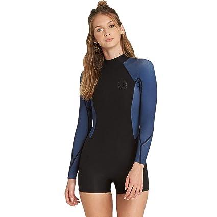Billabong 2mm Spring Fever Back Zip Women s Shorty Wetsuits - Blue Swell   4 3047afd6d