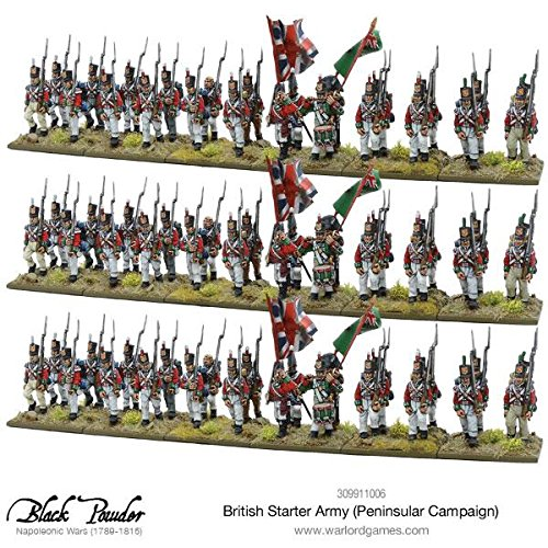Warlord Games, Napoleonic British Starter Army (Peninsular Campaign), Black Powder Wargaming Miniatures