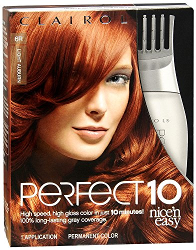 Clairol Nice 'N Easy Perfect10 Permanent Color Light Aubu...