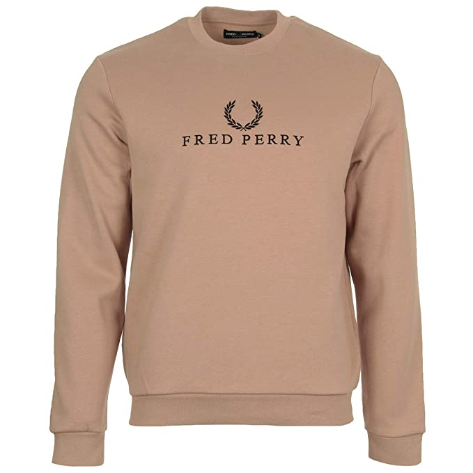 it Sport Pink Embroidered Grey Sweatshirt Felpa Perry Amazon Fred 0qwAvx