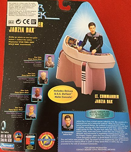 (Playmates Star Trek 6 Warp Factor Series 2 Lt. Commander Jadzia Dax with Deluxe U.S.S. Defiant Helm Console)