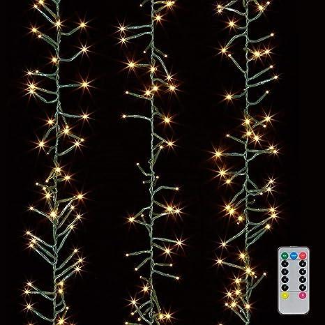 Amazon.com: Guirnalda de luces de Navidad de 10 pies con 300 ...