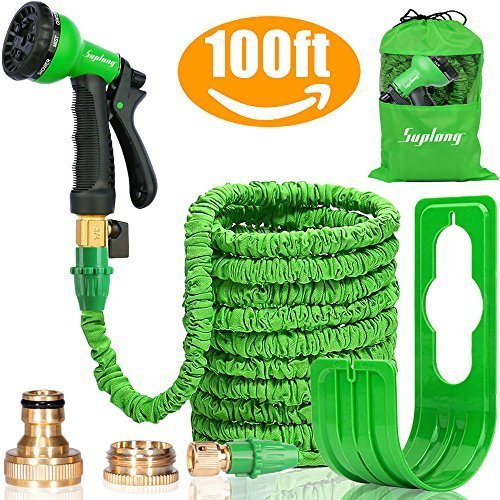 Suplong Expandable Garden Water Hose Pipe- 8-Pattern Spray Gun Anti-leakage...